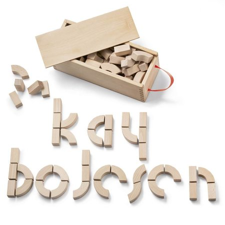 KAY BOJESEN DESIGN KAY BOJESEN ALPHABET BLOCKS