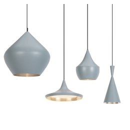 TOM DIXON BEAT LIGHT PENDANT GREY/SILVER