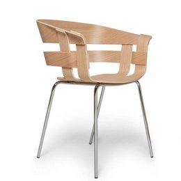 DESIGN HOUSE STOCKHOLM WICK  CHAIR CHROME ONDERSTEL