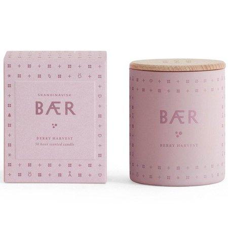 SKANDINAVISK BAER (berry) - Mini light pink purple glass 55gr.