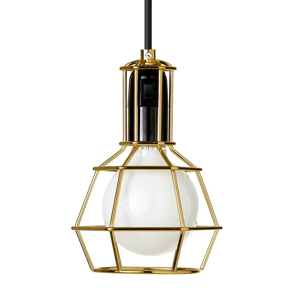 design house stockholm work lamp gold nordic new. Black Bedroom Furniture Sets. Home Design Ideas