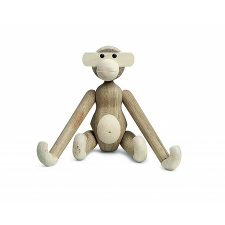KAY BOJESEN MONKEY SMALL OAK/MAPLE 20cm