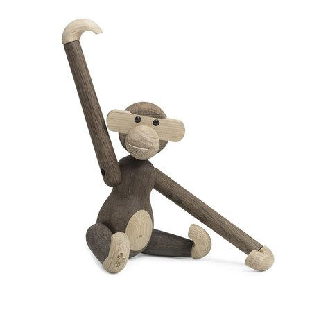 KAY BOJESEN MONKEY SMALL OAK/ SMOKED OAK 20CM