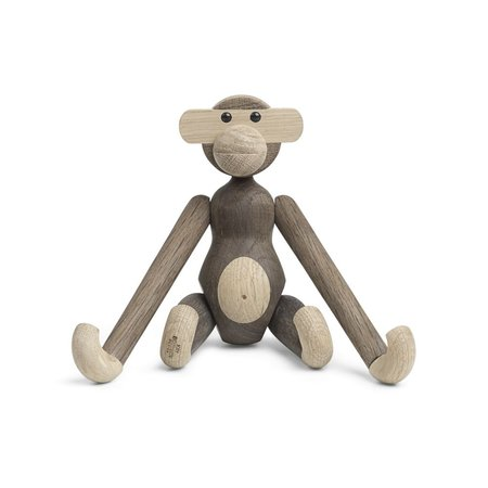 KAY BOJESEN MONKEY SMALL OAK/SMOKED OAK