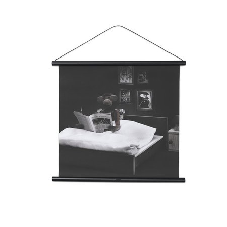 KAY BOJESEN MONKEY PHOTO READING IN BED 40x40CM