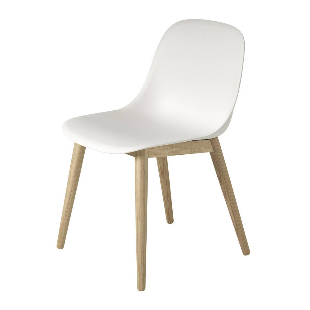 Wood Base Chairs ~ Muuto fiber side chair wood base designed by iskos