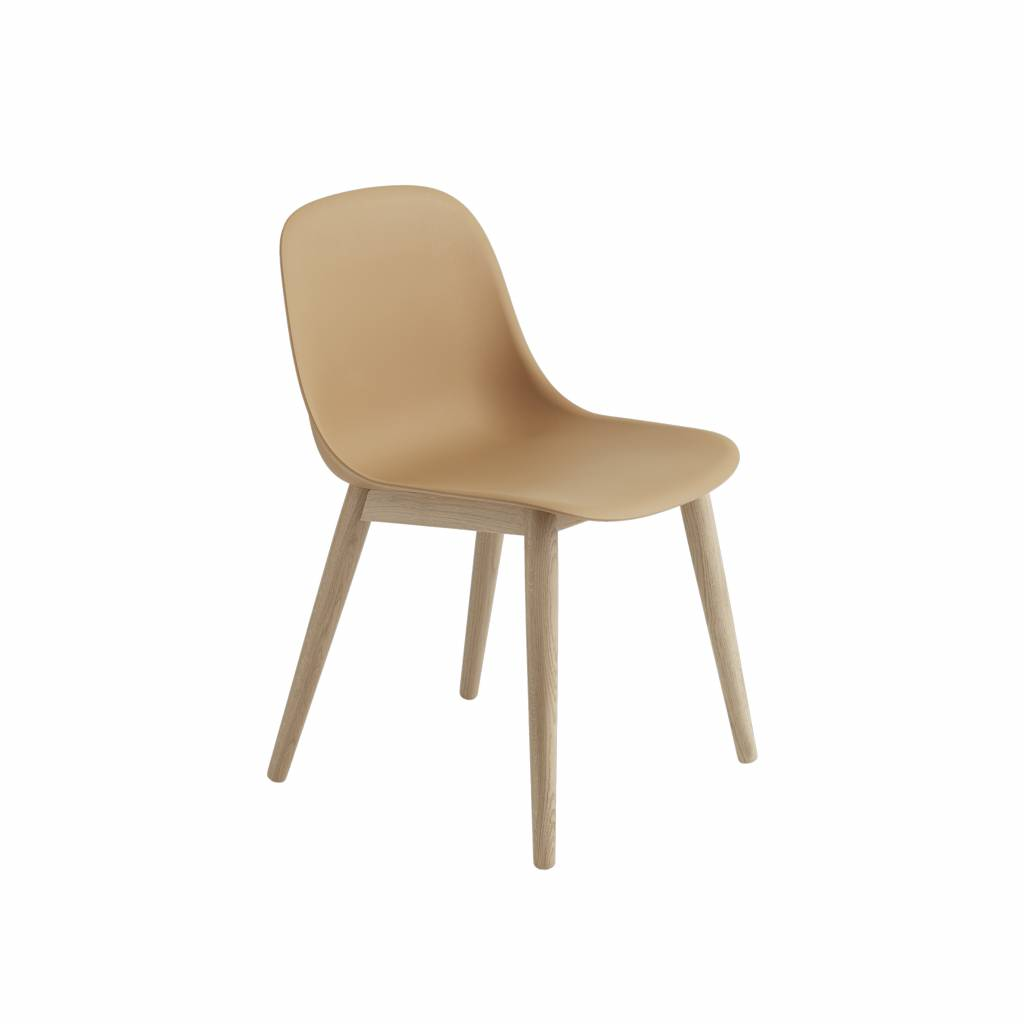 Muuto Fiber Side Chair Wood Base Designed By Iskos