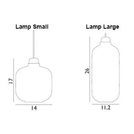 NORMANN COPENHAGEN DESIGN AMP LAMP SMALL  MESSING