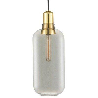 NORMANN COPENHAGEN AMP LAMP LARGE BRASS/ SMOKE