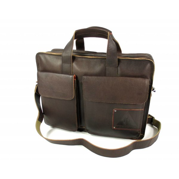 "Laptoptas business tas 15,6"" Twinner bruin"