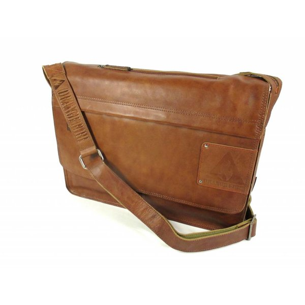 "Laptoptas Business tas met Classic flap 15,6"" Cognac"