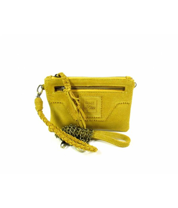 House of Sakk Portemonnee Camille Purse S Sunset Yellow