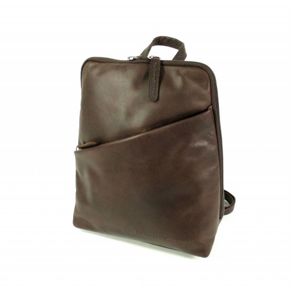 Leren back Pack Dames Maria Wax Pull up Bruin