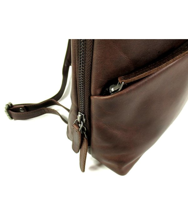 Chesterfield Leren back Pack Dames Maria Wax Pull up Bruin