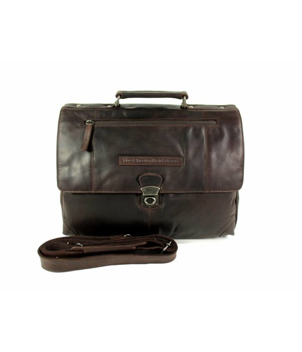 Chesterfield Aktetas Business tas GEORGE wax pull up Bruin