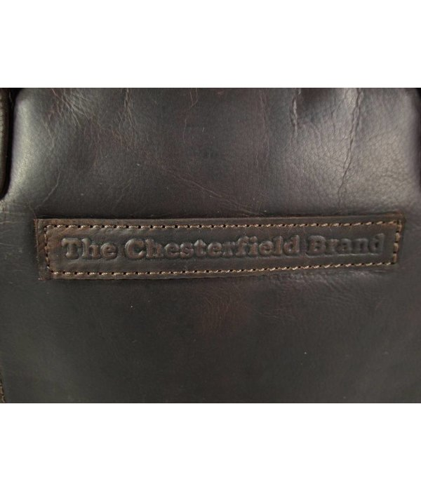 Chesterfield Dames schoudertas laptoptas Maria Wax Pull Up Bruin