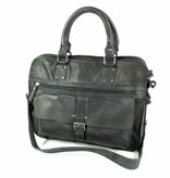 "Berba Heren twee vaks laptop 15"" business tas AROSA Donker grijs"