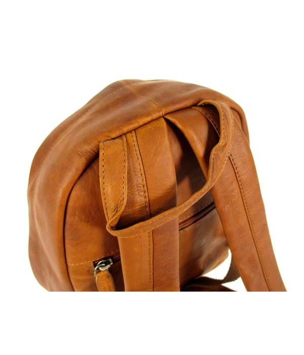 Chesterfield Leren rugzak Small JAMIE vintage wax pull up leer cognac