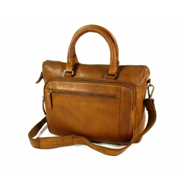 "Laptoptas 15,6"" Black label Hi Veg Crust Cow Cognac"