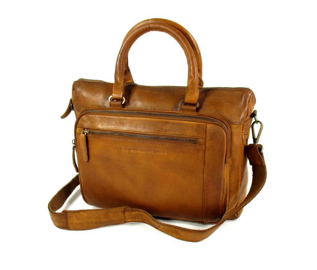 Laptoptas 15,6″ Black label Hi Veg Crust Cow Cognac