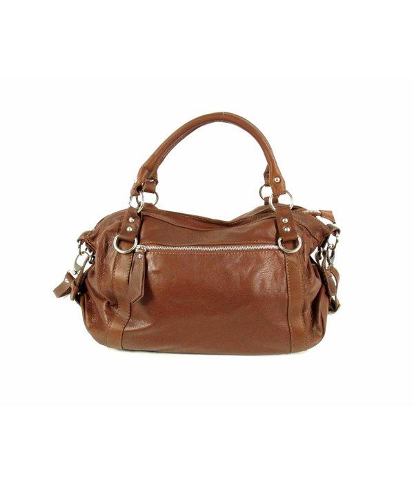 My Bag Schoudertas damestas soft leer Cognac Bruin