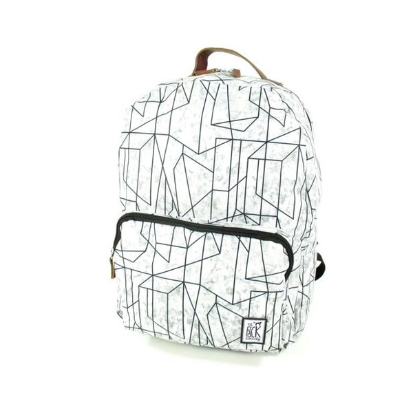 Classic Backpack Geometric Marble Grijs