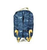 The Pack Society Classic Backpack waves allover Blauw