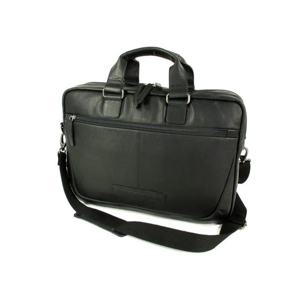 2 vaks business tas laptoptas SAMUAL wax pull up zwart