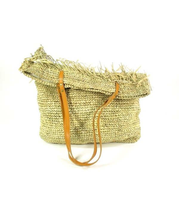 House of Sakk Strandtas Raffia ROMBE naturel