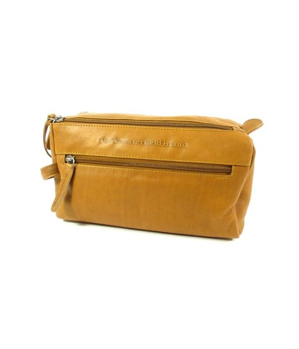 Chesterfield Toilettas MINKE wax Pull Up leer Cognac