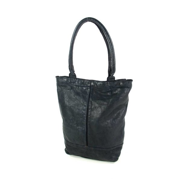 Leren shopper AMBER Navy