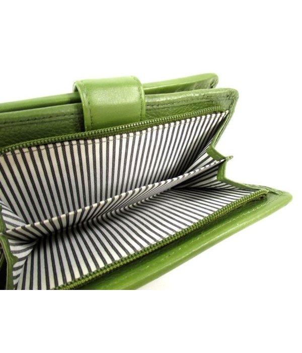 Berba Dames rits portemonnee met klep SPORT BRANCA Avocado