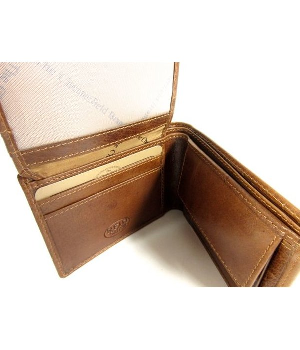 Chesterfield Kleine Billfold breed MARTIN Portemonnee Cognac
