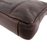 Chesterfield Schoudertasje cluch SONIA Waxed pull up Bruin