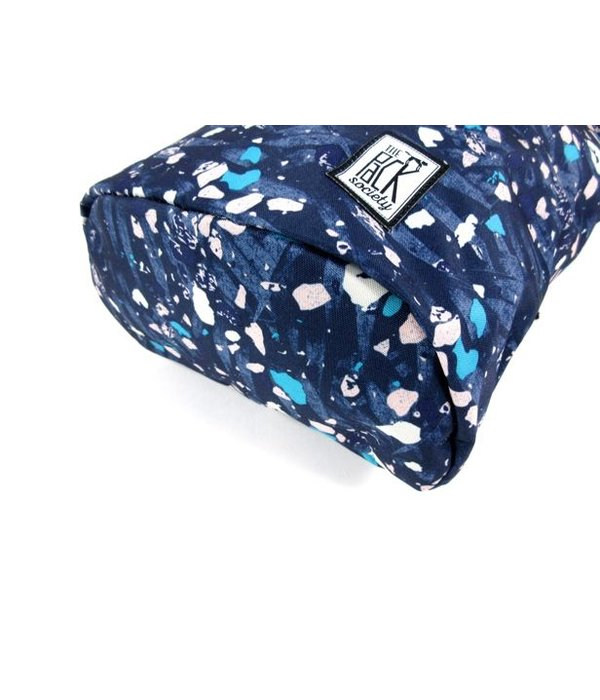 The Pack Society Daypack rugzak Blauw Speckles allover