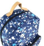 The Pack Society Classic Rugzak Blauw Speckles allover
