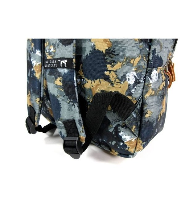 The Pack Society Classic Rugzak Groen Camo allover