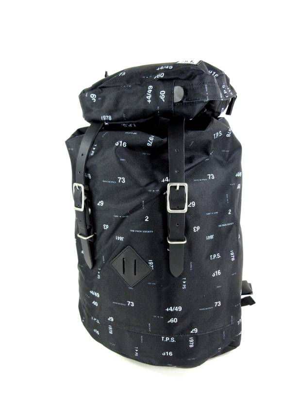 The Pack Society Premium backpack met trekkoord en klepsluiting Zwart Numbers al