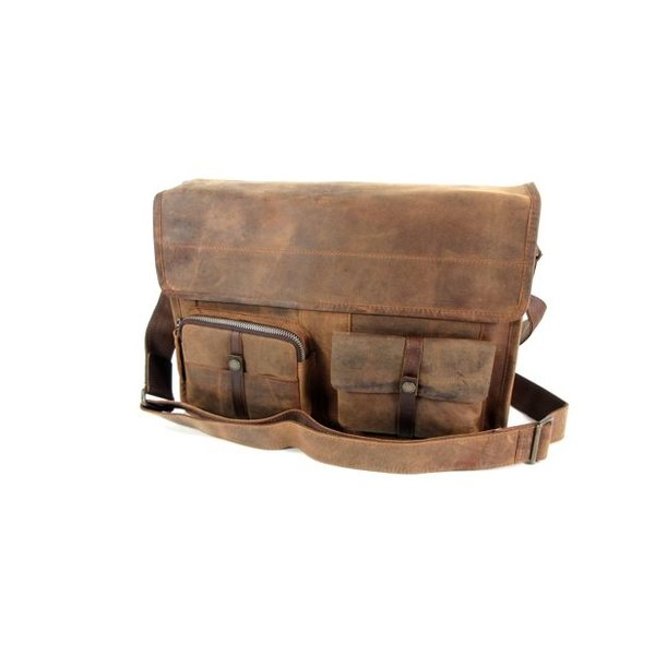 "Messenger kleptas A4 werktas 13"" laptop RUVIDO Coffee"