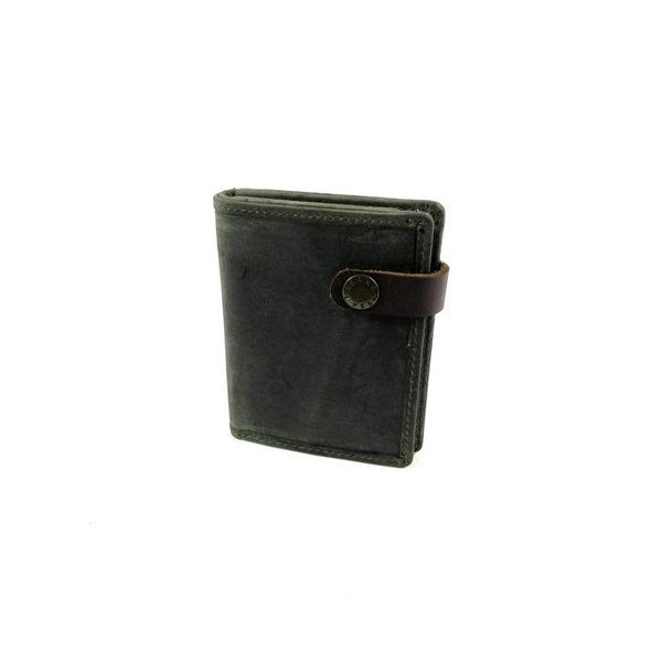 Leren Heren billfold RUVIDO Military