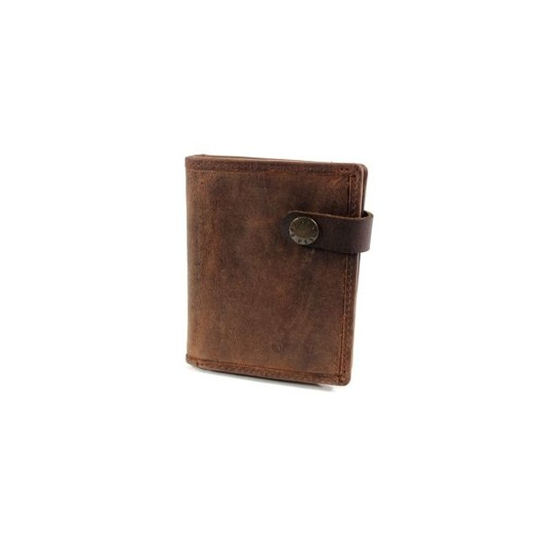 Leren Heren billfold RUVIDO Coffee