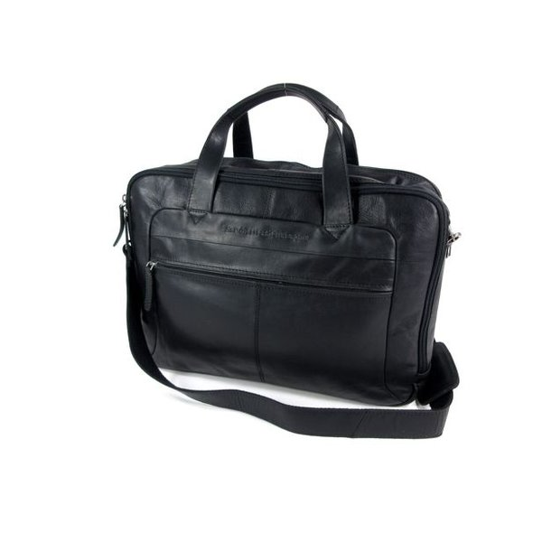 2 vaks laptop tas 17 inch RYAN wax pull up zwart