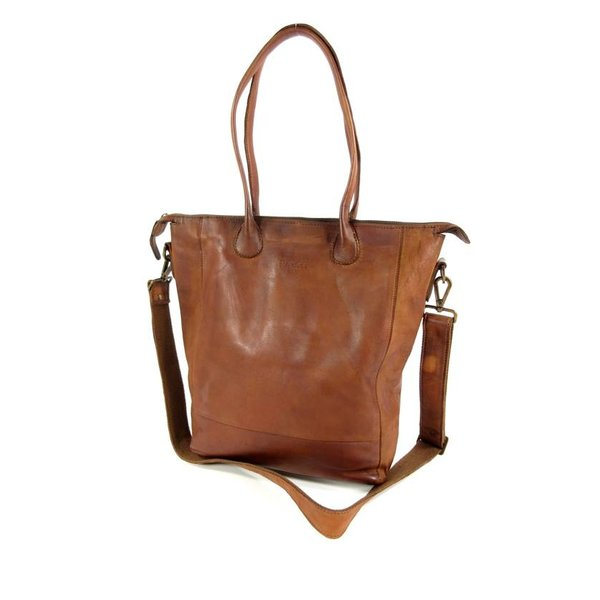 Damestas shopper LILY Cow Hi-Veg Soft Cognac