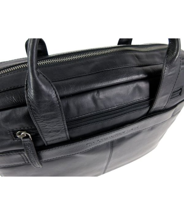 Chesterfield business tas laptoptas JAKE wax pull up Zwart