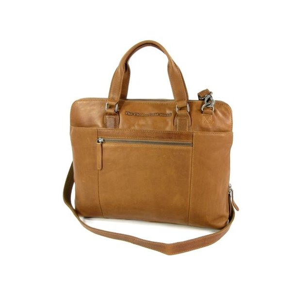 Ruime dames office bag L HANA wax ull up cognac