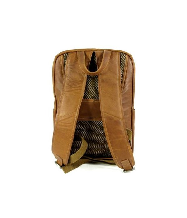 Chesterfield leren rugzak ARI wax pull up cognac