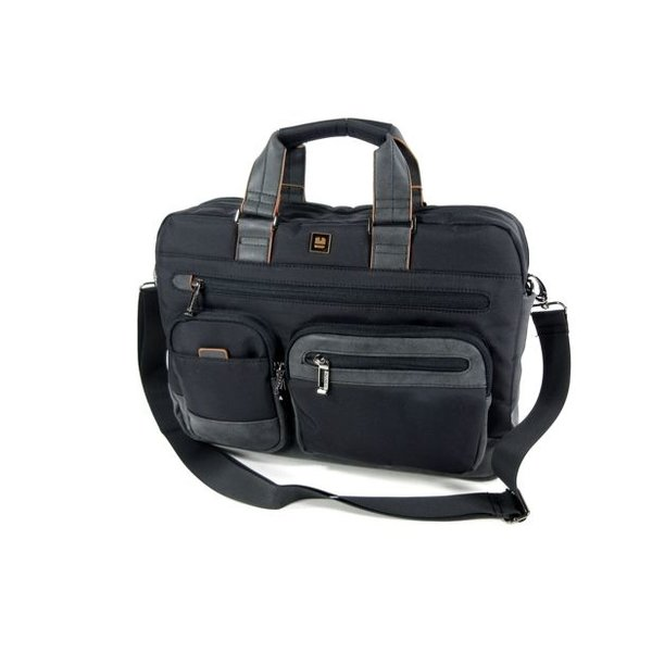 "Schoudertas Briefcase 15,6"" laptoptas PROCESS Zwart"