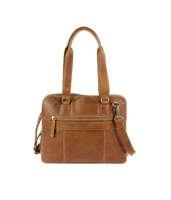 Chesterfield Compacte dames office bag M CARA wax ull up cognac