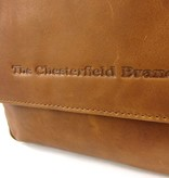 Chesterfield Reporter medium schoudertas MORGAN wax pull up Cognac