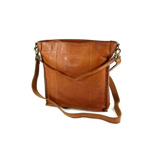Damestas Hobo Large LARIN Black label Hi vig Cognac